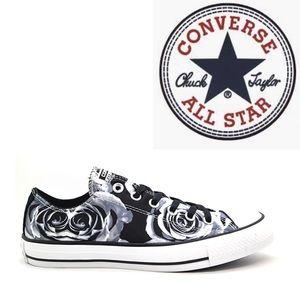 Converse Black White Satin Chucks Low 11.5